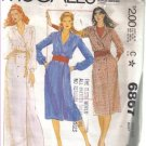 McCall's Misses' Buttoned Double Brested Dress Pattern Size 18 Uncut  no 6867