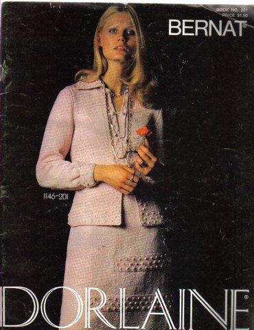 Bernat Dorlaine  Book no 201 Knitting Patterns Dress Suits Sweaters