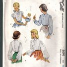 McCall  Vintage Girls' Set of Blouses Pattern Size 10 Uncut 8091