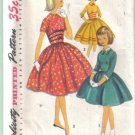 Simplicity Vintage Girls' Dress with Detachable Collar  & Cuffs Pattern Size 8
