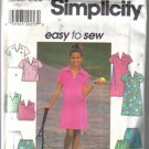 Simplicity Girl's Size  12, 14, 16 Dress, Top & Shorts Pattern no 7608