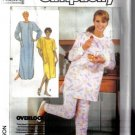 Simplicity  7817 Size 10-12 Nightgown and Pajamas Pattern uncut w/ Overlock / serger instructions