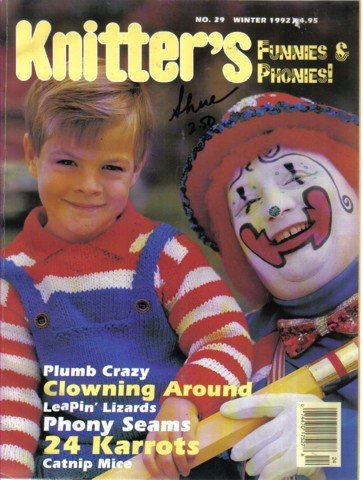 Knitter's No. 29 Winter 1992 -Kid's Funnies and Phonies