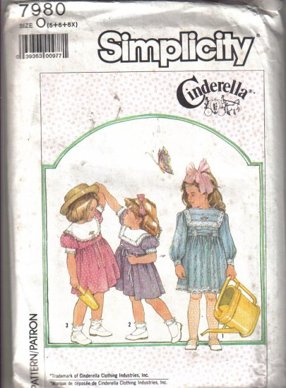 Simplicity Cinderella Girls Dress Pattern  size 5 - 6x  - Uncut no. 7980