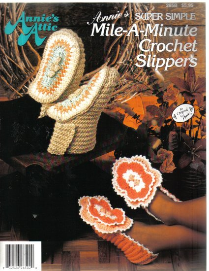 Annie's Attic Super Simple Mile-A-Minute Crochet Slippers
