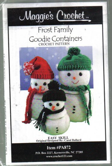 Frost Family Goodie Containers Maggie's Crochet Pattern
