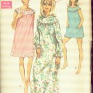 Simplicity Vintage Misses' Nightgown and Bloomers Pattern Uncut size Lg 16-18