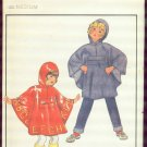 Butterick 3626 Children's Medium Poncho uncut  with transfer