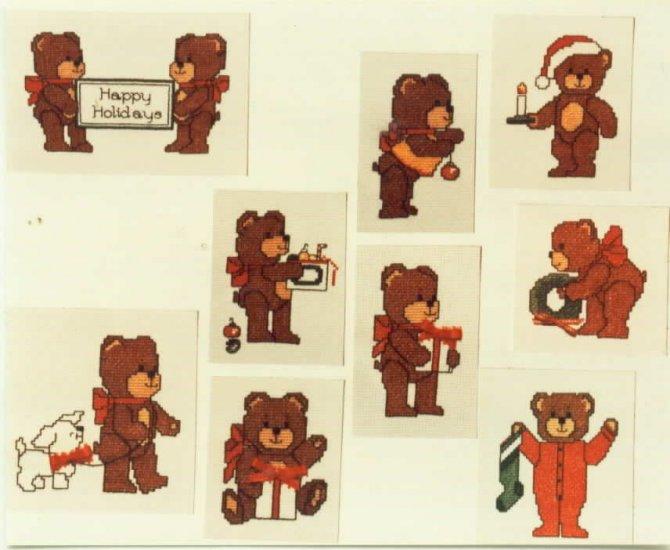 Christmas Bears to Cross Stitch
