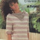 Susan Bates Patons Natural Choice Tops  Knitting / Crochet  Patterns
