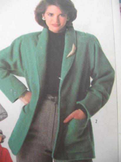 Simplicity Loose Fitting Lined Jacket Pattern Sz  18 No 7700 Uncut