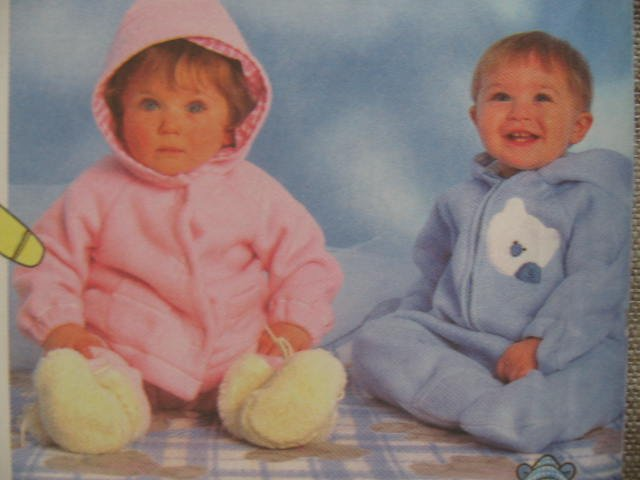 Simplicity Babies Romper Jacket Pants Blanket Sewing Pattern no.7807 Size NB,s,M,L Uncut