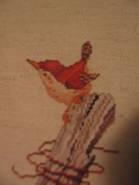 The Nestlings - Nesting Birds Counted Cross Stitch Pattern