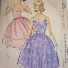 McCall's 5869 60's Shoulder Strap Dress w/ 4 Gore Skirt Sz 15