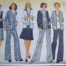 Simplicity Misses' Cardigan Jacket Top Skirt & Pants Sewing Pattern uncut no 6114 Size 16 Bust 38