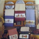 Mimi's Country Towels Cross Stitch Patterns 12 Designs