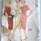 McCall's Misses' 50's Sheath Dress Sewing Pattern size 12  Complete no 4994