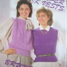 Super Quick Vests Knitting Patterns 4 designs