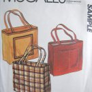 McCall's Sample Pattern for Tote Bags Uncut