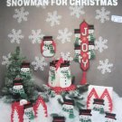 Plastic Canvas Snowman for Christmas Tissue box cover ornaments