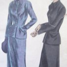 Vogue 40's  Suit Sewing Pattern no. 6568 Size 16 complete