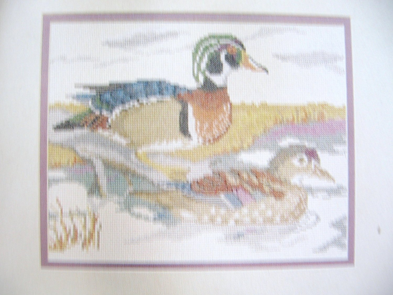 On the Pond Cross Stitch Pattern of Ducks by Nanci