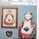 Katie Kringle Cross Stitch Pattern and Stuffed Doll Pattern to Sew by Heartstrings