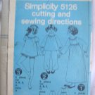 Simplicity Girls Nightgown Sewing Pattern  size 14- Uncut no.5126