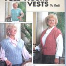 Full Figured Vests to Knit Sizes 42 - 50 Leisure Arts 547