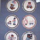 "Buttons & Bows Book 2 Cross Stitch Pattern For 5"" Hoops Teddy Bears, Boy, Girl"