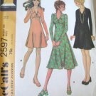 Mccall's 2597 Misses' High Waisted Dress Sewing Pattern sz 14 uncut