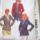 Mccall's 7263 Misses' Jacket Sewing Pattern sz 14 uncut