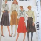 Mccall's 8197 Misses' Skirts Sewing Pattern sz 14 uncut
