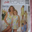 Mother and Daughter Dress and Bag Sewing Pattern McCall's 3640 NEW