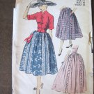 Vintage Skirt with without ruffles & Jacket Sewing Pattern Advance 5827 sz12