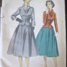 Vintage Fitted Jacket Flared Skirt 2 Piece Dress Sewing Pattern Advance 5936