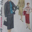 Vintage 3 Piece Suit Jacket Skirt Overblouse Pattern Simplicity 1321 sz 14 1/2