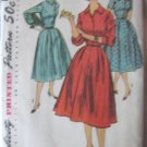 Vintage Shirt Dress Flared Skirt Sewing Pattern Simplicity 1749 sz 14