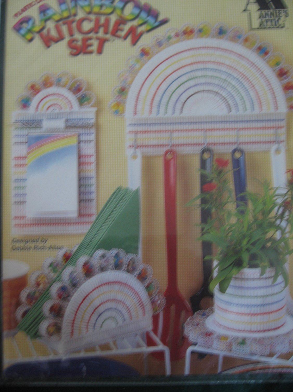 Plastic Canvas Rainbow Kitchen Set by Annie's Attic
