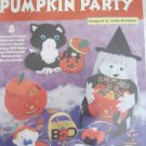 Plastic Canvas Pumpkin Party Halloween Decorations Candy Bowls