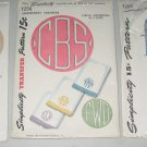 Lot of 3 1940's Simplicity Alphabet Monogram Tranfer Packets