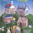 Easter Basket Village in Plastic Canvas 5 Holiday Baskets