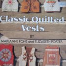 Classic Quilted Vests - Patchwork Applique Strip Vests