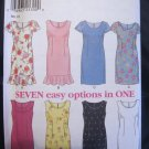 New Look 7 Option Dress Sewing Pattern sz 6 - 16 no 6717