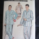 Advance  Vintage Mens Pajamas Sewing Pattern Size 34 - 36