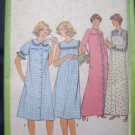 "Vintage Misses"" Nightgown and Robe Sewing Pattern Simplicity 8198 Size 12"
