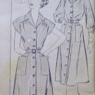 Vintage 50's Button Down the Front Shirtdress Sewing Pattern Mail Order Sz 18