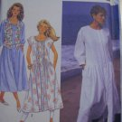 Misses Loose Fitting Dress and Lined Vest Sewing Pattern Simplicity 7165 Size pt-xl