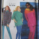 Misses Stretch Knit Pants and Tunic Sewing Pattern Simplicity 7447 Size pt-xl