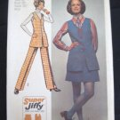 Super Jiffy Tunic Mini Skirt Pants Sewing Pattern  Sz  16 Simplicity 5075 Uncut